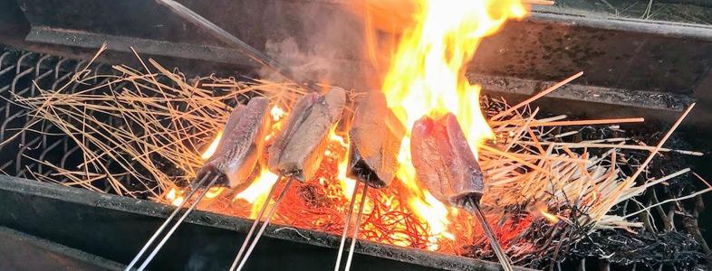 カツオのワラ(藁)焼き